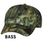 Bass Fishouflage Caps