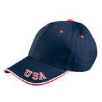 6-Panel Mid-Profile Cap with USA Embroidery