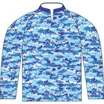 Digital Blue Youth Fishing Jersey