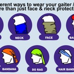 Matching Face / Neck Protection - Gaiters / Buffs