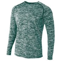 Adult Space Dye Long Sleeve Raglan T-Shirt Thumbnail